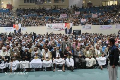 عاجل : أنباء عن إجتماع لمشائخ اليمن في قاعة أبو لو لتدارس الأوضاع فيما يخص تمدد الحوثي وتطور المشهد بعمران
