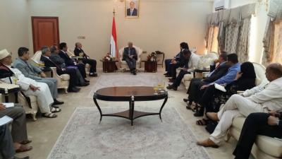 نائب رئيس الوزراء يلتقي مساعد الأمين العام للأمم المتحدة في عدن