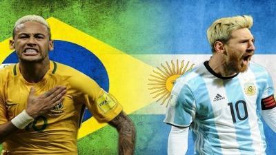 مونديال روسيا.. البرازيل لمواصلة التألق والأرجنتين لتصحيح المسار