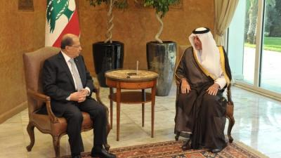 """الملك سلمان يرسل مبعوثاً خاصاً إلى لبنان يدعو الرئيس اللبناني """" عون """"  لزيارة السعودية"""