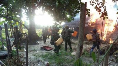 رايتس ووتش: صور بالأقمار الصناعية تظهر أن مئات من منازل الروهينغا في ميانمار دمرت