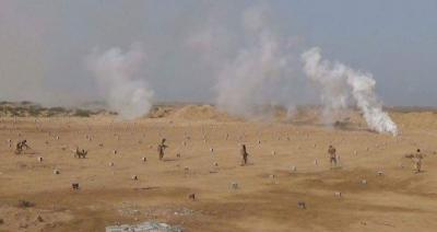 معارك عنيفة في ميدي ومقتل قيادي حوثي  بغاره جويه