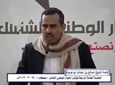 قيادي مؤتمري بارز مقرب من نجل صالح يبارك لأحد أقربائه من القادة العسكريين الذين عينهم الرئيس هادي مؤخراً