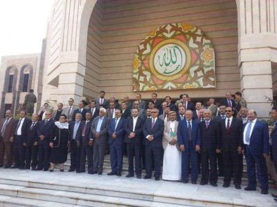 شاهد أولى الصور لحكومة بن حبتور المشكلة من الحوثيين وحزب المؤتمر بصنعاء