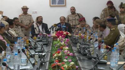 الفريق علي محسن الأحمر يترأس اجتماعاً للسلطات المحلية لإقليم سبأ بمحافظة مأرب( صوره)