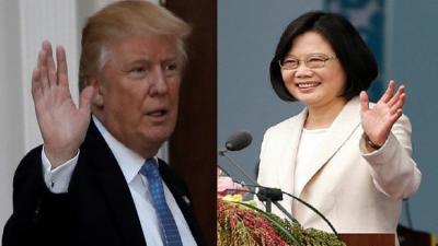 """مكالمة بين ترامب ورئيسة تايوان  والصين تصفه """"بالعمل التافه"""""""