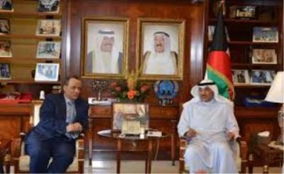 ولد الشيخ يلتقي وزير الخارجية الكويتي والأخير يجدد دعم بلاده للشرعية في اليمن