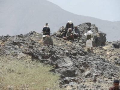 جبل كساد تحت سيطرة المقاومة بمديرية الزاهر بالبيضاء بعد معارك عنيفة مع الحوثيين وقوات صالح