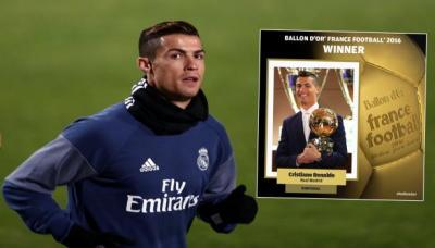 كريستيانو رونالدو يحصل على لقب أفضل لاعب في العالم ويحصد الكرة الذهبية للمرة الرابعة