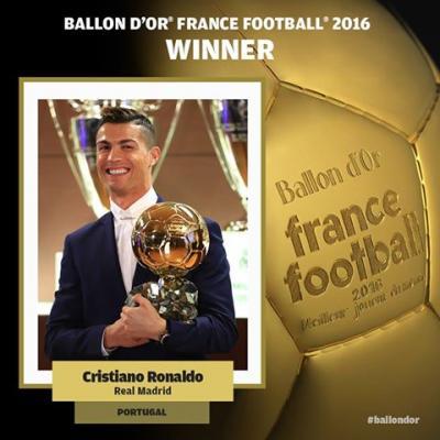 """رسميا .. فرانس فوتبول تكشف عن الفائز بجائزة """"الكرة الذهبية 2016"""""""