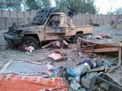 إرتفاع حصيلة التفجير الإنتحاري في وسط جنود قوات الأمن الخاص بعدن والذي خلف عشرات القتلى