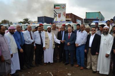 الكويت تقدم مساعدات وسيارات إسعاف لأربع محافظات