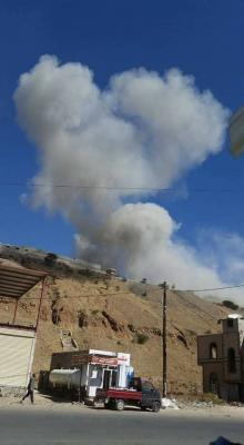 غارات جوية تستهدف معسكر في العاصمة صنعاء ( صور)