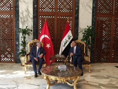 رئيس الوزراء التركي يصل بغداد في زيارة رسمية