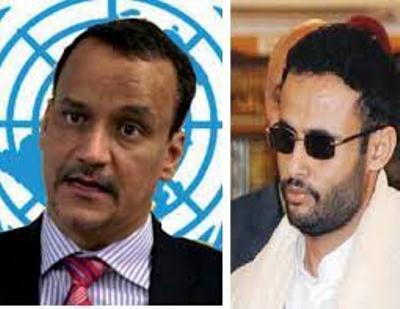 """القيادي الحوثي """" المشاط """" يهاجم """" الرباعية """"  والأمم المتحدة"""