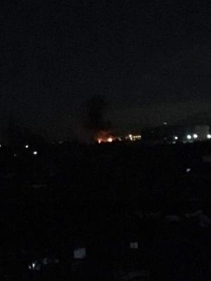 إسرائيل تقصف مطار المزة العسكري في دمشق .. فيديو