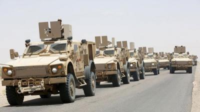 تعزيزات عسكرية كبيرة تصل منطقة ذباب