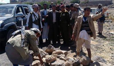 خروج ألف مقاتل من المسلحين الحوثيين يوم أمس ، الذين قدموا من خارج همدان ( تفاصيل )
