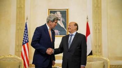 """الرئاسة اليمنية ترد على تصريحات وزير الخارجية الأمريكي """" كيري """" بشأن الرئيس هادي"""