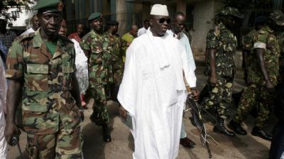 الرئيس الغامبي يعلن مغادرته السلطة