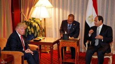 ترامب يهاتف السيسي ويؤكد التزامه بالمساعدات العسكرية لمصر
