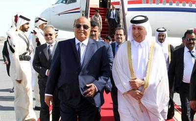 الرئيس هادي يصل قطر ( صور)