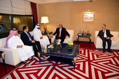 الرئيس هادي يستقبل مدير صندوق قطر للتنمية