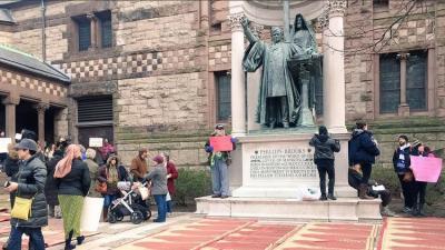 كنيسة في بوسطن الأمريكية ترفع الأذان احتجاجا على سياسة ترامب