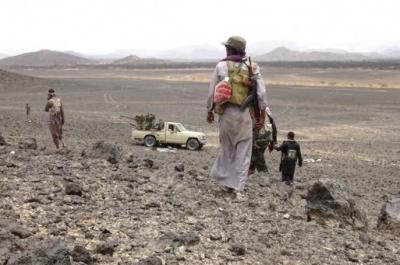 المقاومة في البيضاء تسيطر على مواقع تابعة للحوثيين وقوات صالح في قيفة