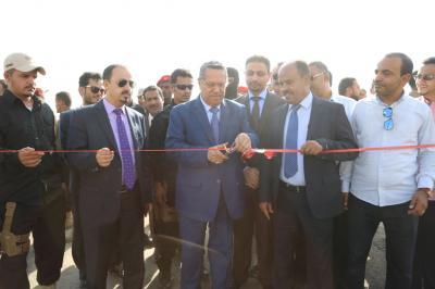 بن دغر يدشن المرحلة الأولى من مشروع مدينة عدن الجديدة بتكلفة 8 ملايين دولار( صور)