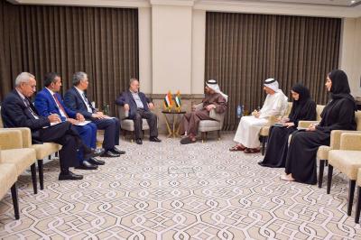 المخلافي يلتقي وزير الخارجية الإماراتي