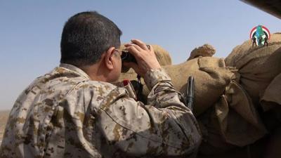 بالصور .. المقدشي يزور جبهات القتال في ميدي