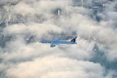 """أطول رحلة طيران بالعالم لطيران """" القطرية """" مدتها 16 ساعه و 23 دقيقه و 4 طيارين تناوبوا على القيادة"""