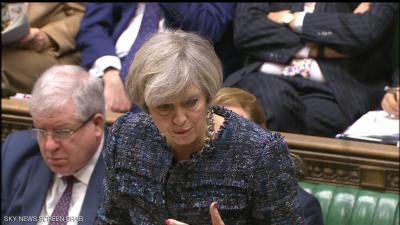 """مجلس العموم الريطاني يمنح  رئيسة الوزراء """" ماي """"  الضوء الأخضر لبدء """"البريكست"""""""