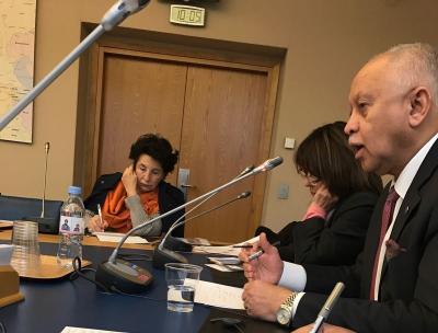 السفير رياض ياسين يقدم إحاطة عن الوضع في اليمن أمام عدد من أعضاء الشيوخ الفرنسي