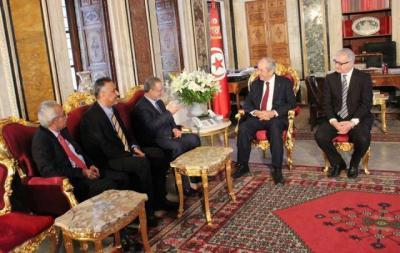 المخلافي يلتقي رئيس مجلس النواب التونسي