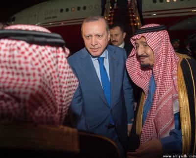 """الملك سلمان يستقبل الرئيس التركي """" أردوغان"""" ( صور)"""