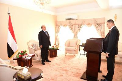 سفير اليمن لدى اسبانيا يؤدي اليمين الدستورية امام الرئيس هادي