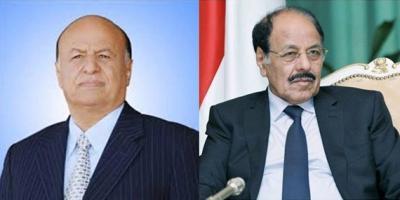 الفريق علي محسن الأحمر يهنئ الرئيس هادي