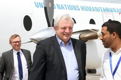 أزمة المرتبات والوضع الإنساني في اليمن أحد أبرز أهداف زيارة المسؤول الأممي الكبير إلى اليمن
