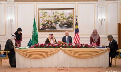 توقيع أربع مذكرات تفاهم بين حكومتي السعودية وماليزيا بحضور الملك السعودي