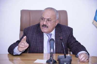 """الرئيس السابق """" صالح """" يحرّض على حزب الإصلاح ويصفهم بـ """" الدواعش """" ويدعوا أنصاره إلى رفد جبهات الحدود"""