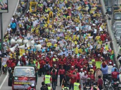 مسيرة بكوالالمبور ضد أحكام الإعدام بمصر