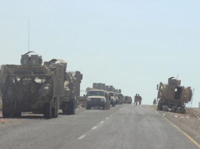 وصول معدات عسكرية واسلحة للتحالف إلى عدن .. ومصدر يكشف وجهتها