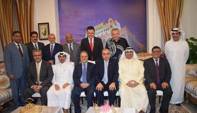 المخلافي يلتقي السفراء العرب لدى ماليزيا ( صوره)