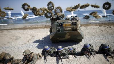انطلاق تدريبات عسكرية مشتركة واسعة لكوريا الجنوبية والولايات المتحدة