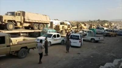 تعزيزات ومعدات عسكرية تصل مأرب ( صور)