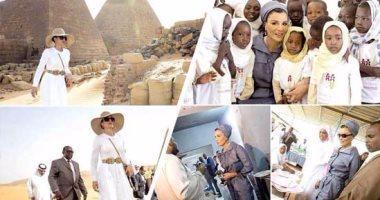 """زيارة والدة أمير قطر الشيخة  """" موزا """" لأهرامات السودان تفجر أزمة وتراشق إعلامي بين مصر والسودان ( صور)"""