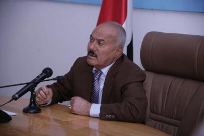 """أبرز ما قاله """" صالح """" في كلمته .. توعد بالقتال والصمود ودعا السعودية للحوار والسلام وتأسف على الإقتتال بين اليمنيين وهاجم الشرعية !!"""