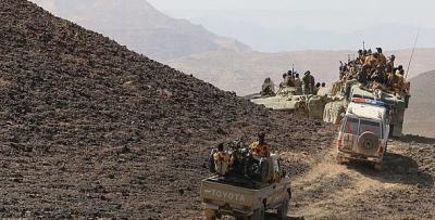 """قوات الجيش والمقاومة تستعيد السيطرة على منطقة """" مندبه """" بصعدة"""